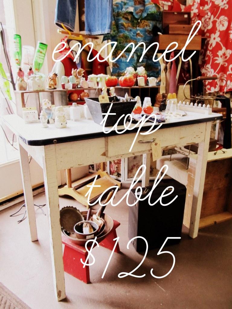 enamel table
