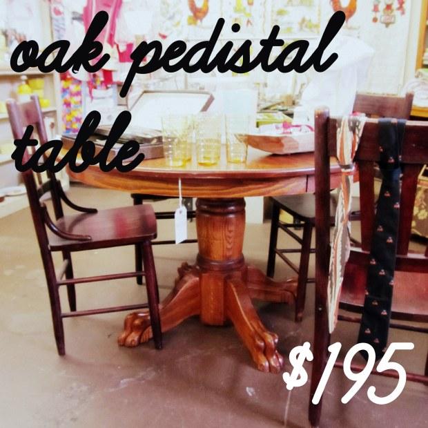 oak pedistal table