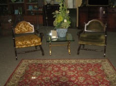 Vintage 70's chairs, beautiful rug