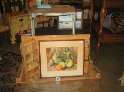 Original water color, crates